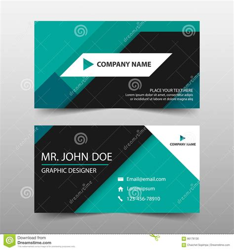 Horizontal Business Card Template by Green Corporate Business Card Name Card Template