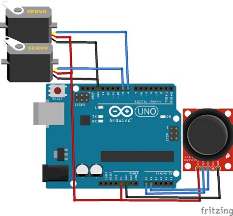 tutorial arduino joystick how to control servo motors with an arduino and joystick