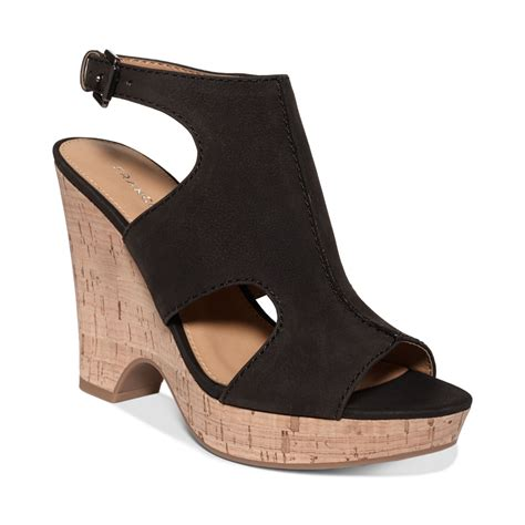 franco sarto black sandals franco sarto platform wedge sandals in black lyst