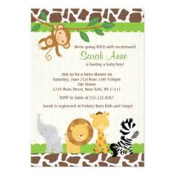 safari jungle baby boy shower invitation 5 quot x 7 quot invitation card zazzle