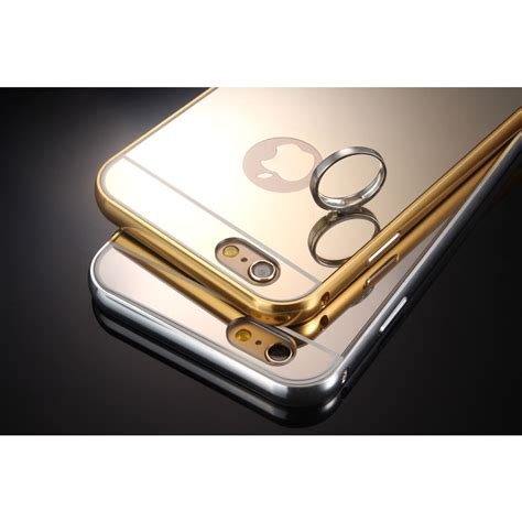 bumper mirror for iphone 6 6s aluminium bumper with mirror back cover for iphone 6 6s