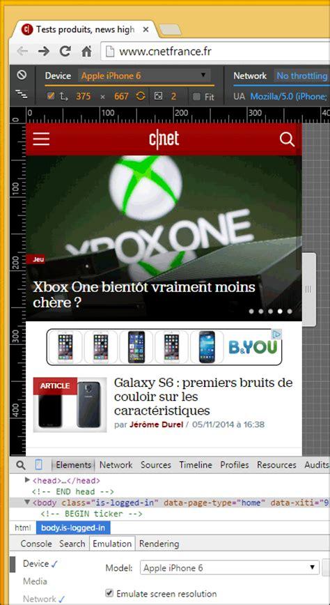web version on mobile comment voir la version mobile d un site web avec chrome