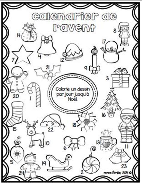Calendrier De L Avent En Anglais à Colorier Advent Calendar Free Coloriage Du Calendrier De L