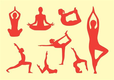 imagenes yoga vector yoga pose vector pack download free vector art stock