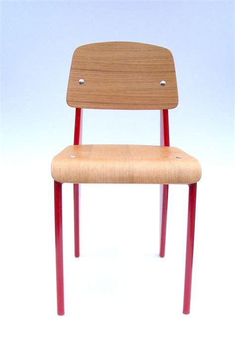 jean prouve standard chair red zinzan classic design  affordable prices eames tolix