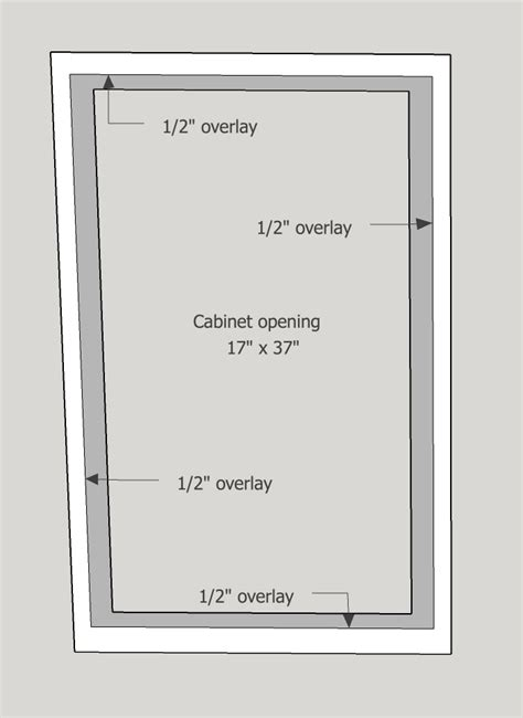 how to measure for full overlay cabinet doors remodelaholic how to make a shaker cabinet door