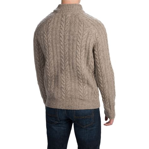Rope Sweater by Mens Barbour Rope Crew Neck Shetland Wool Sweater