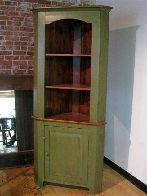 custom  rustic style barn wood corner cabinet
