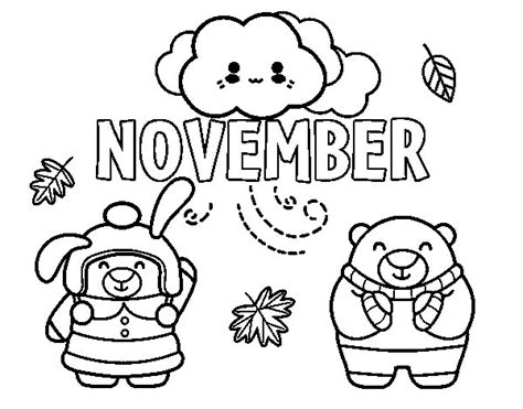 coloring pages for november november coloring page coloringcrew
