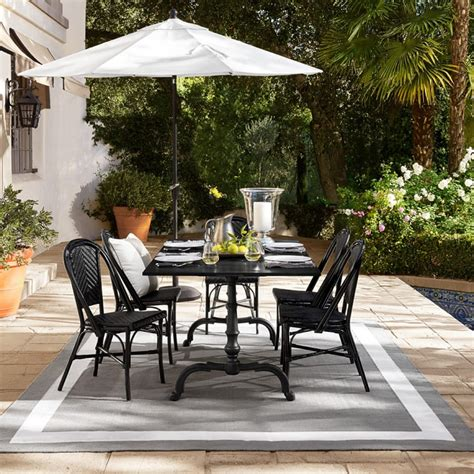 Outdoor Dining Furniture Ideas Outd La Coupole Indoor Outdoor Dining Table Rectangular Black