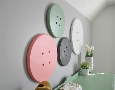 home button decorations 187 fun craft room ideas giant button wall art