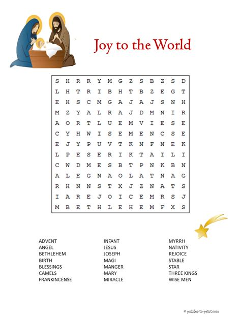 printable religious christmas games this puzzle features words from the biblical story of