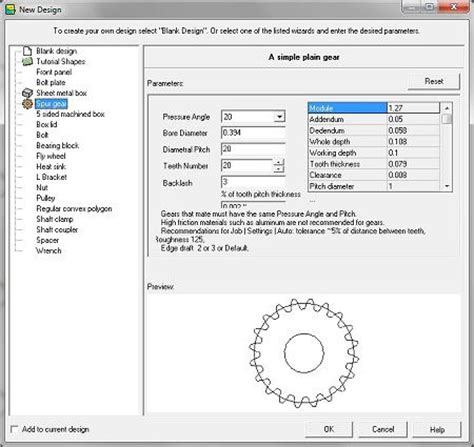 Gear Layout Software | free gear design software emachineshop com