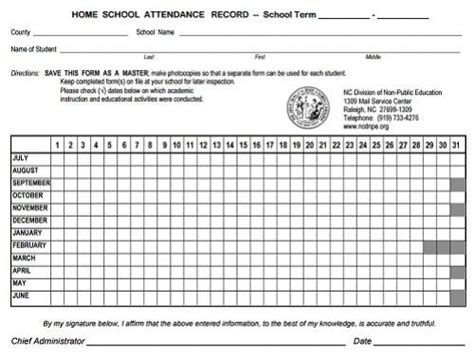 nc report card template nc doa home school information