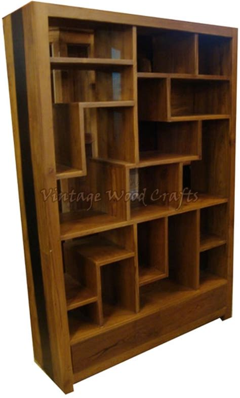 wooden bookshelves wooden bookshelf with orissa work