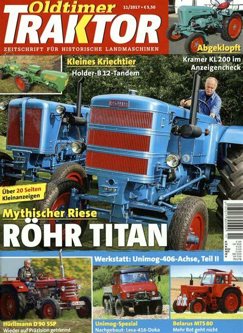 Motorrad Oldtimer Zeitschrift by Oldtimer Traktor Abo Oldtimer Traktor Probe Abo Oldtimer