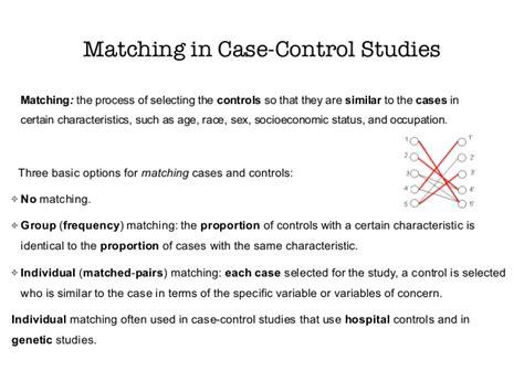 pattern matching analysis case study sams ebm online course observational study designs