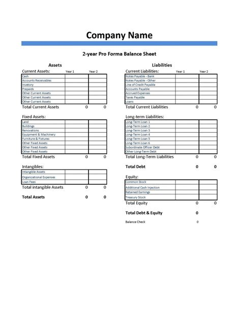 pro forma template for startup pro forma balance sheet template dumbing it