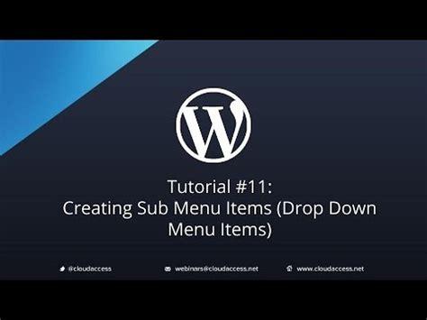 yii2 tutorial drop down tutorial 11 creating sub menu items drop down menu