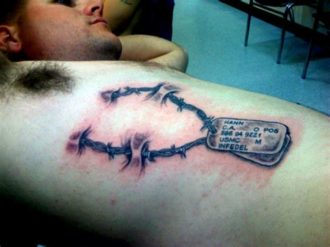 meat tag tattoo usmc tags picture at checkoutmyink