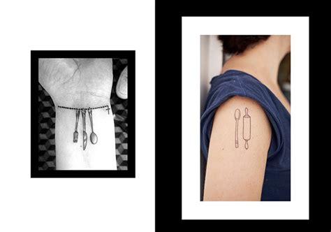 piccoli utensili da cucina tatuaggi cibo i tatoo pi 249 belli ispirati alla cucina e