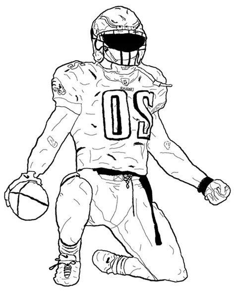 football guy coloring page football player drawing cliparts co