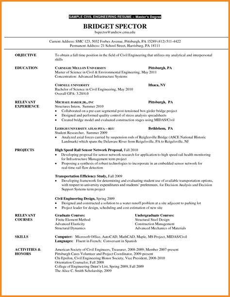 resume for graduate school template graduate school resume exles exles of resumes