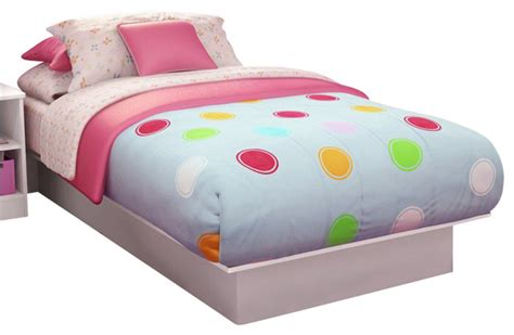 kid bed south shore libra platform bed in white