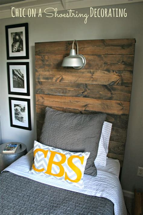 Diy Headboards For Boys by How To Build A Rustic Wooden Headboard Bigger Boy