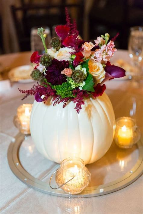 Fall Flower Wedding Centerpieces by 29 Ways To Use Pumpkins For Your Wedding D 233 Cor Weddingomania