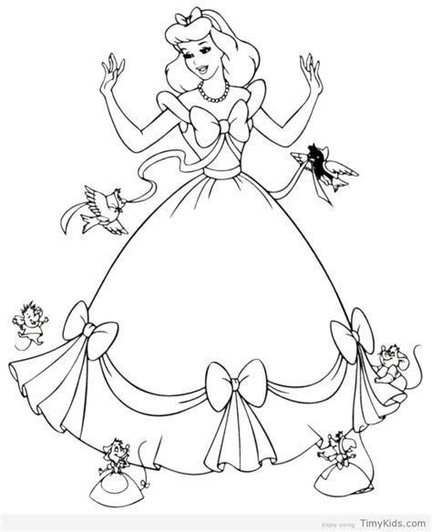 Barbie Cinderella Coloring Pages | princess cinderella coloring pages timykids