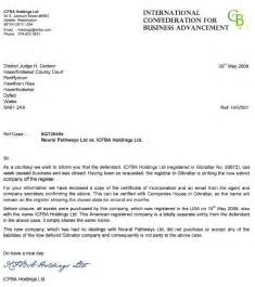 Cover Letter Sign Offs by Diary Of A Ccj Against Icfba Holdings Ltd How Do You Sue A Non Existent Company