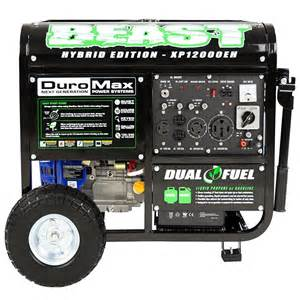 duromax xp12000eh dual fuel generator review
