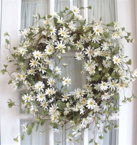 home decor wreaths daisy spring wreath home decor pinterest