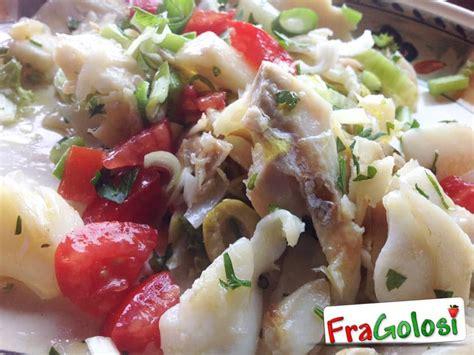 come cucinare il pesce stocco insalata di pesce stocco alla messinese ricetta di