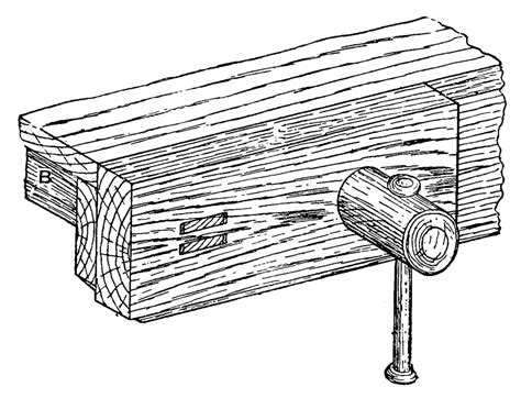wooden bench screw file cc j fig28 wooden bench screw vice png wikimedia