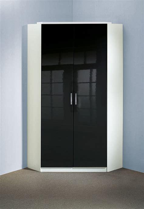 armoire d angle chambre armoire d angle design 2 portes noir laqu 233 blanc orphea