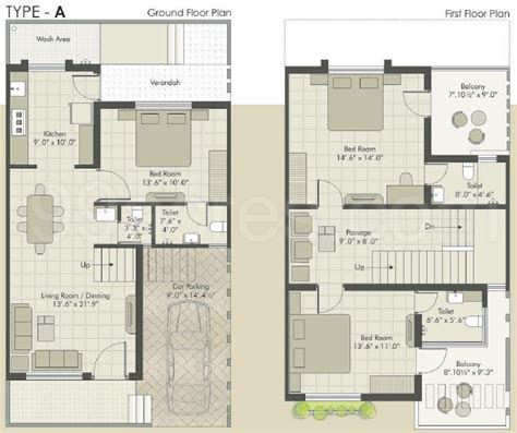 duplex row house floor plans 1000 square feet row house design home deco plans