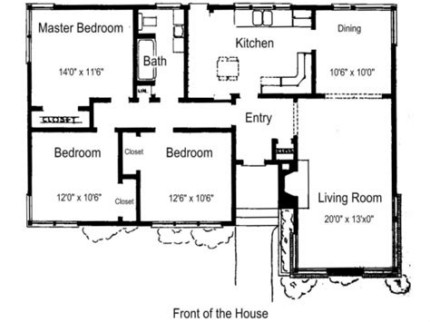 simple house plan with 3 bedrooms house floor plans