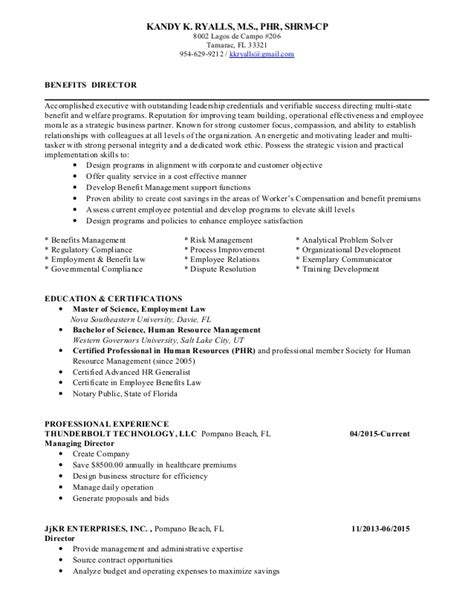 Benefits Director Sle Resume by Benefits Manager Resume Resume Ideas
