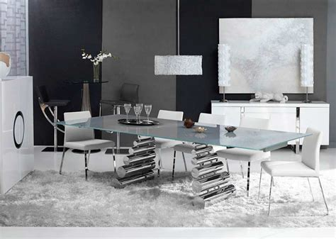 glass table top bay area extendable glass top dining table bl019 modern dining