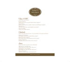 Free Menu Templates For Word by Doc 770477 Free Cafe Menu Templates For Word Free