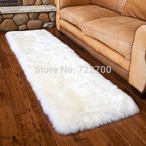 White Fur Throw Rug by Aliexpress Buy Wool White Fur Rug Sheepskin