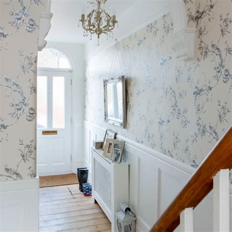 grey wallpaper hallway ideas off white floral hallway hallway decorating