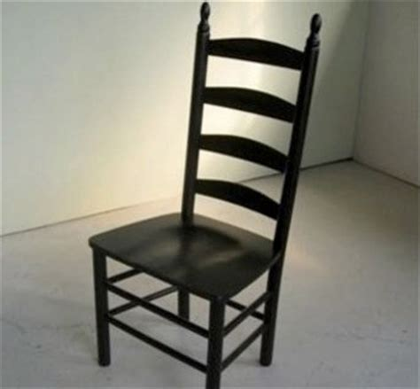 black 4 slat ladder back chair farmhouse dining chairs