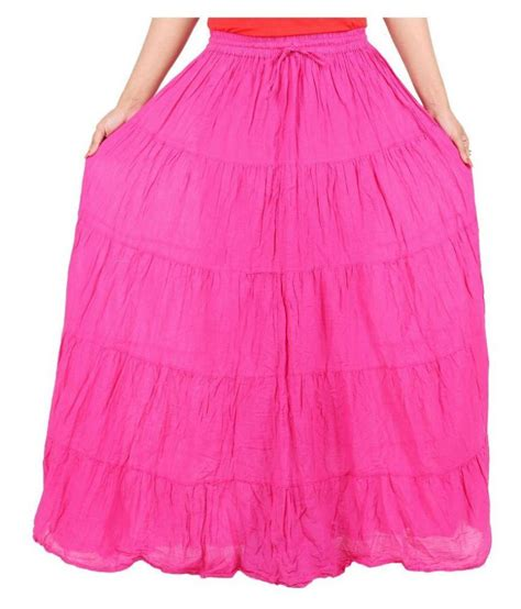 buy drax pink cotton maxi skirt at best prices in