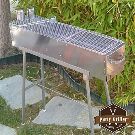 Cook Master Bbq Skewer Stainless Tusukan Kebab Satay Stainless B50 Griller 32 Stainless Steel Charcoal Grill Portable Bbq Grill Yakitori Grill Kebab