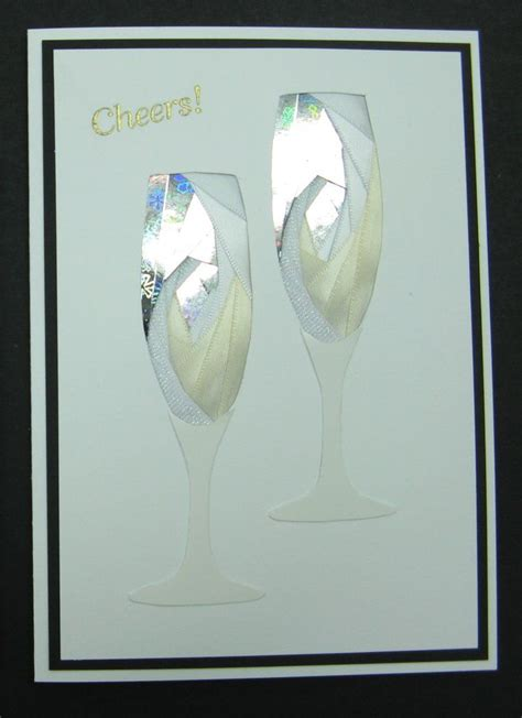 460 iris folded cards to make iris folding pair of chagne glasses pattern from