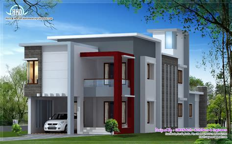 home design by 1700 sq flat roof contemporary home design house