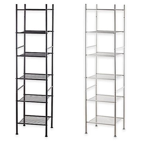 bathroom tower shelf 6 tier tower rack bath shelf bed bath beyond